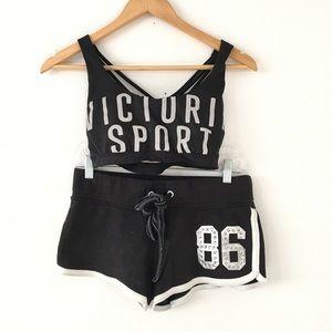 PINK VS Shorts & Victoria's Sport Bra Bundle